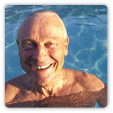 Photo of an older man in a swimming pool